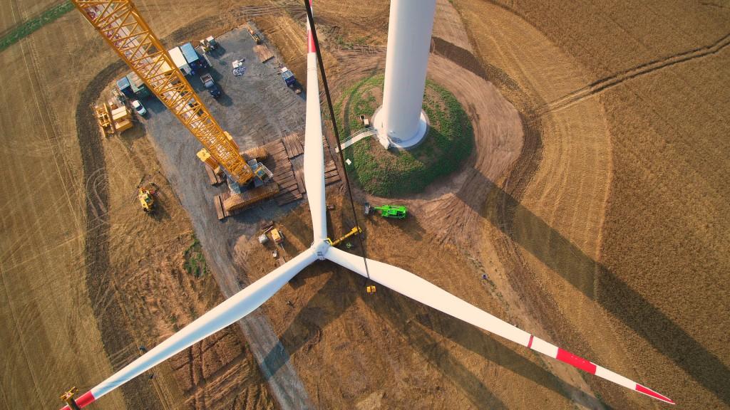 Bei Diesem Windpark Wurden 8 WEA Des Typs GE 2.75MW Auf Einem Max Bögl Hybridturm Mit 134m Nabenhöhe Eingesetzt.